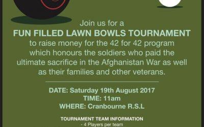 42 for 42 Event – Lawn Bowls Tournament
