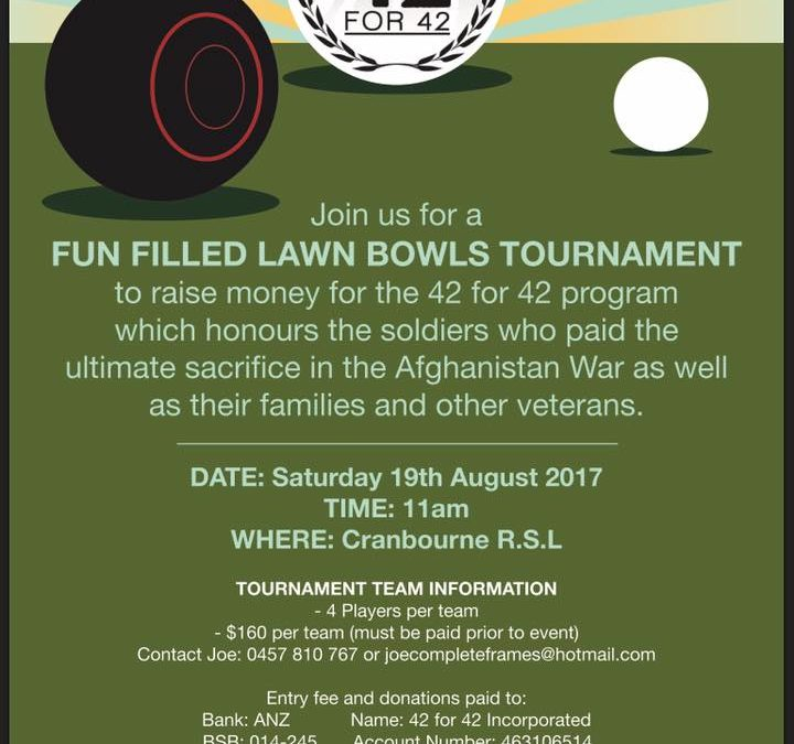 42 for 42 Event – Lawn Bowls Tournament
