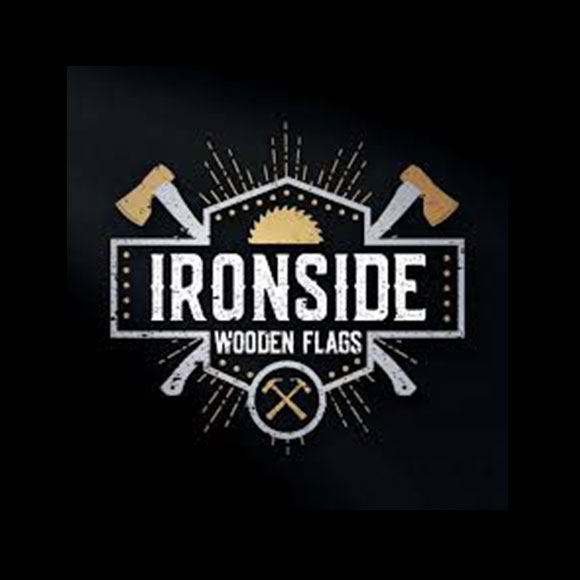 Ironside Coffee Co & Ironside Wooden Flags